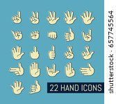 hand gesture icons set. vector...   Shutterstock .eps vector #657745564