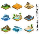 relief isometric flat icon | Shutterstock .eps vector #657746539