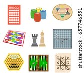 Board Games Flat Icon Set