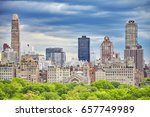 upper east side of manhattan... | Shutterstock . vector #657749989