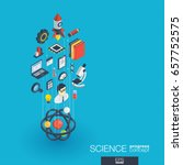 science integrated 3d web icons.... | Shutterstock .eps vector #657752575