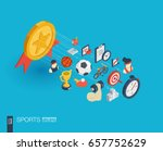 sport integrated 3d web icons.... | Shutterstock .eps vector #657752629