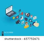 blog integrated 3d web icons.... | Shutterstock .eps vector #657752671