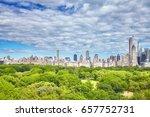 central park and manhattan... | Shutterstock . vector #657752731