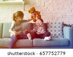 brother sister playing... | Shutterstock . vector #657752779