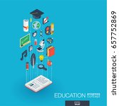 education integrated 3d web... | Shutterstock .eps vector #657752869