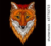 fox head embroidery design for... | Shutterstock .eps vector #657753715