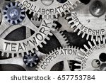 macro photo of tooth wheels... | Shutterstock . vector #657753784