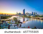 brisbane city skyline and... | Shutterstock . vector #657755305