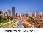 Brisbane City Skyline  At...