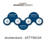 modern infographic process...   Shutterstock .eps vector #657758134