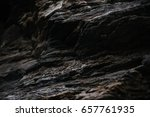 close up of a rocky cliff.... | Shutterstock . vector #657761935