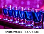 row of shots on the counter ... | Shutterstock . vector #65776438