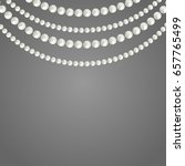 abstract pearl garlands  beads... | Shutterstock .eps vector #657765499
