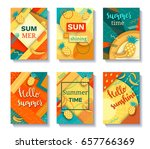 color trendy vector set of... | Shutterstock .eps vector #657766369