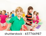 portrait of smiling blond kid... | Shutterstock . vector #657766987