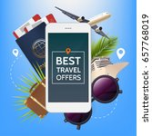 travel offer banner.... | Shutterstock .eps vector #657768019