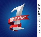 1 year anniversary celebration... | Shutterstock .eps vector #657768655