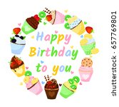 happy birthday to you.... | Shutterstock .eps vector #657769801