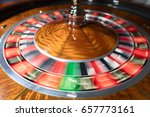 american roulette wheel with... | Shutterstock . vector #657773161