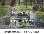family parentage home love... | Shutterstock . vector #657774565
