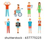 human trauma and accidents ... | Shutterstock .eps vector #657775225