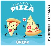 vintage food poster design with ... | Shutterstock .eps vector #657782011
