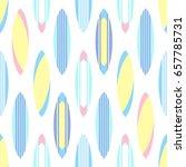surfboards pattern on white... | Shutterstock .eps vector #657785731