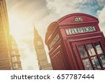British Phone Booth With Big...