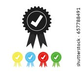 approved check mark icon vector ... | Shutterstock .eps vector #657788491