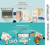 flat design illustration... | Shutterstock .eps vector #657789529