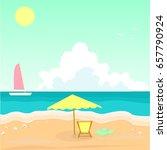 seascape. sea shell. white ship ... | Shutterstock .eps vector #657790924