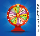 realistic retro spinning wheel... | Shutterstock .eps vector #657792949