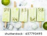 homemade vegan frozen coconut...   Shutterstock . vector #657793495