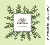 background with rosemary.... | Shutterstock .eps vector #657795934