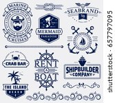 set of sea and nautical... | Shutterstock .eps vector #657797095