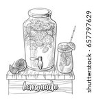 vector home made lemonade with... | Shutterstock .eps vector #657797629