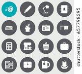 set of 16 office icons set... | Shutterstock .eps vector #657798295