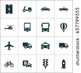 transport icons set. collection ... | Shutterstock .eps vector #657799555
