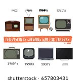 television history. tv retro... | Shutterstock .eps vector #657803431