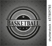 basketball dark emblem. retro | Shutterstock .eps vector #657809785