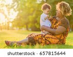 african american mother with... | Shutterstock . vector #657815644