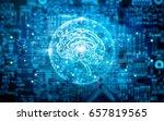 virtual brain innovative... | Shutterstock . vector #657819565