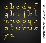 calligraphic alphabet design in ... | Shutterstock .eps vector #657824845