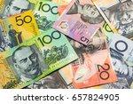 colorful of australian dollars... | Shutterstock . vector #657824905