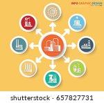 industry info graphic design... | Shutterstock .eps vector #657827731