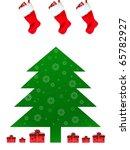 christmas tree illustration... | Shutterstock . vector #65782927