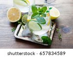 refreshing cold iced mint drink ... | Shutterstock . vector #657834589