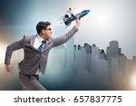 businessman in start up...   Shutterstock . vector #657837775
