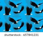 bald eagle flying cartoon... | Shutterstock .eps vector #657841231